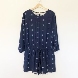 Old Navy • Navy Blue Romper Size Large Petite